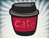 Desenho Xícara de café pintado por Isadoran