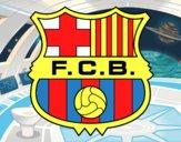 Desenho Emblema do F.C. Barcelona pintado por Luis9992