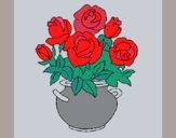 Desenho Jarro de flores pintado por ceciliaz