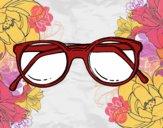 Desenho óculos de massa redondos pintado por ceciliaz