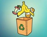 Desenho Reciclagem orgânica pintado por Craudia