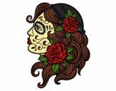 Desenho Tatuagem de Catrina pintado por kaahbenite