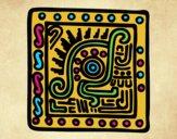 Desenho Símbolo Maia pintado por Craudia