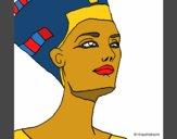 Desenho Busto de Nefertiti pintado por Michelle_R