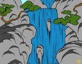 Desenho Cachoeira pintado por Hermione