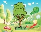 Desenho Uma árvore de parque pintado por Craudia