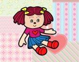 Desenho Boneca de brinquedo pintado por anaCFAIAL