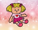 Desenho Boneca de brinquedo pintado por vanalb