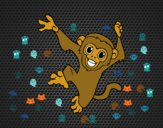 Desenho Macaco-prego bebê pintado por luzinda