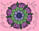 Desenho Mandala Floral pintado por ceciliaz