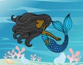Desenho Sereia flutuante pintado por GAIBS