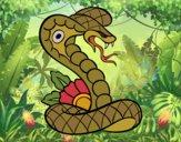 Desenho Tatuagem de cobra pintado por Craudia