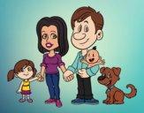 Desenho Uma família unida pintado por vanalb