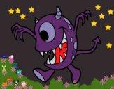 Desenho Monstro com um olho pintado por ceciliaz