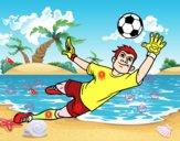 O guarda-redes de futebol