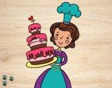 Desenho Bolo de aniversário caseiro pintado por EllenOlive