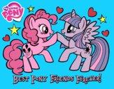 Desenho  Pony Melhores amigos para sempre pintado por WalVivi