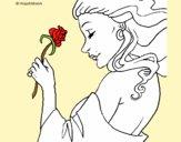 Princesa com uma rosa