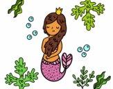 Desenho Rainha sereia pintado por Jujuli