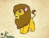 Desenho Um leão pintado por lulu105