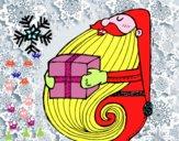 Santa com o presente