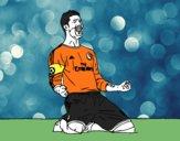 Sergio Ramos comemorando um gol
