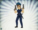 Um policial femenino