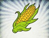 Um sabugo de milho