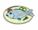 Desenho Placa de peixes pintado por Humano
