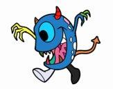 Desenho Monstro com um olho pintado por Josemigue