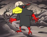 Pássaro monstro maligno