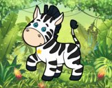 Uma zebra africana