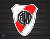 Desenho Emblema do Atlético River Plate pintado por revolt