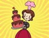 Desenho Bolo de aniversário caseiro pintado por Anninha09