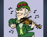 Duende a tocar violino