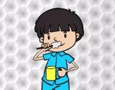 Desenho Esvovar os dentes pintado por Craudia