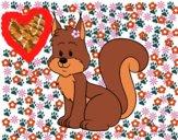 Desenho Um esquilo pintado por Jujuli