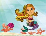 Sereia e seu peixe
