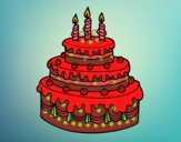 Desenho Torta de Aniversário pintado por ANALUMA