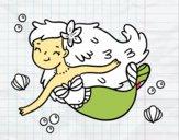 Uma sereia feliz
