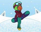 A menina Snowboard