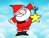 Papai Noel com estrela