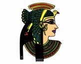 Desenho Perfil Cleopatra pintado por kilminha