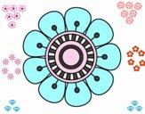 Mandala em forma de flor