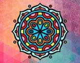 Desenho Mandala para meditar pintado por Silju