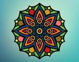 Desenho Mandala simetria simples pintado por Silju