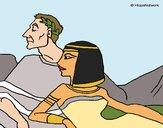 Desenho César e Cleopatra pintado por Keithy
