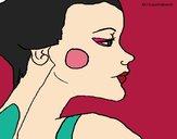 Desenho Perfil geisha pintado por Keithy
