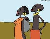 Desenho Família da Zambia pintado por Keithy