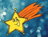 Desenho Estrela cadente pintado por Craudia